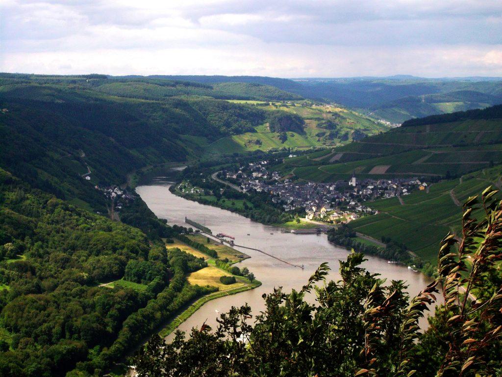 Blick von Starkenburg auf Enkirch